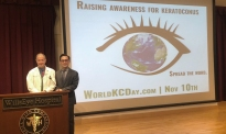 Dr. Clark Chang or Wills Eye Cornea Service and Dr. Chrisopher Rapuano give a talk about KC and help spread the world about World KC Day.