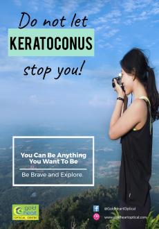 Do not let keratoconus stop you - gold heart