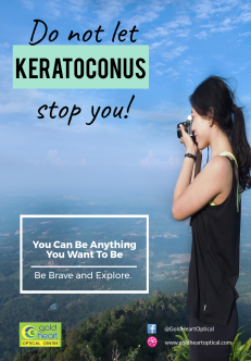 Do not let keratoconus stop you - gold heart
