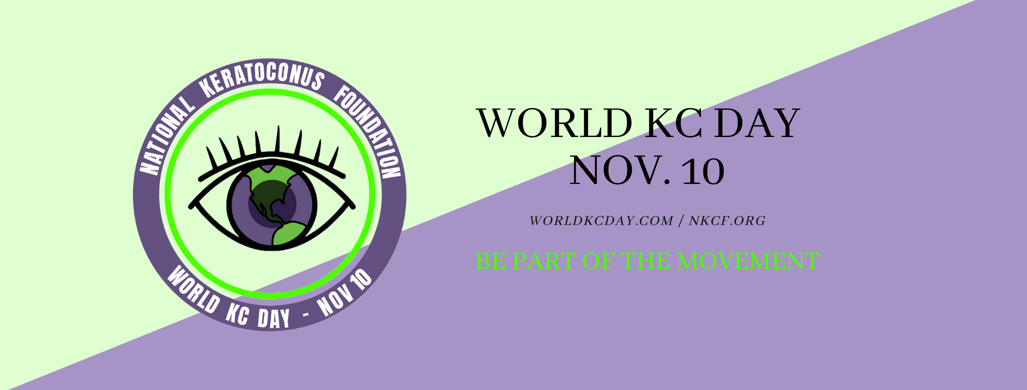 world kc day banner two tone